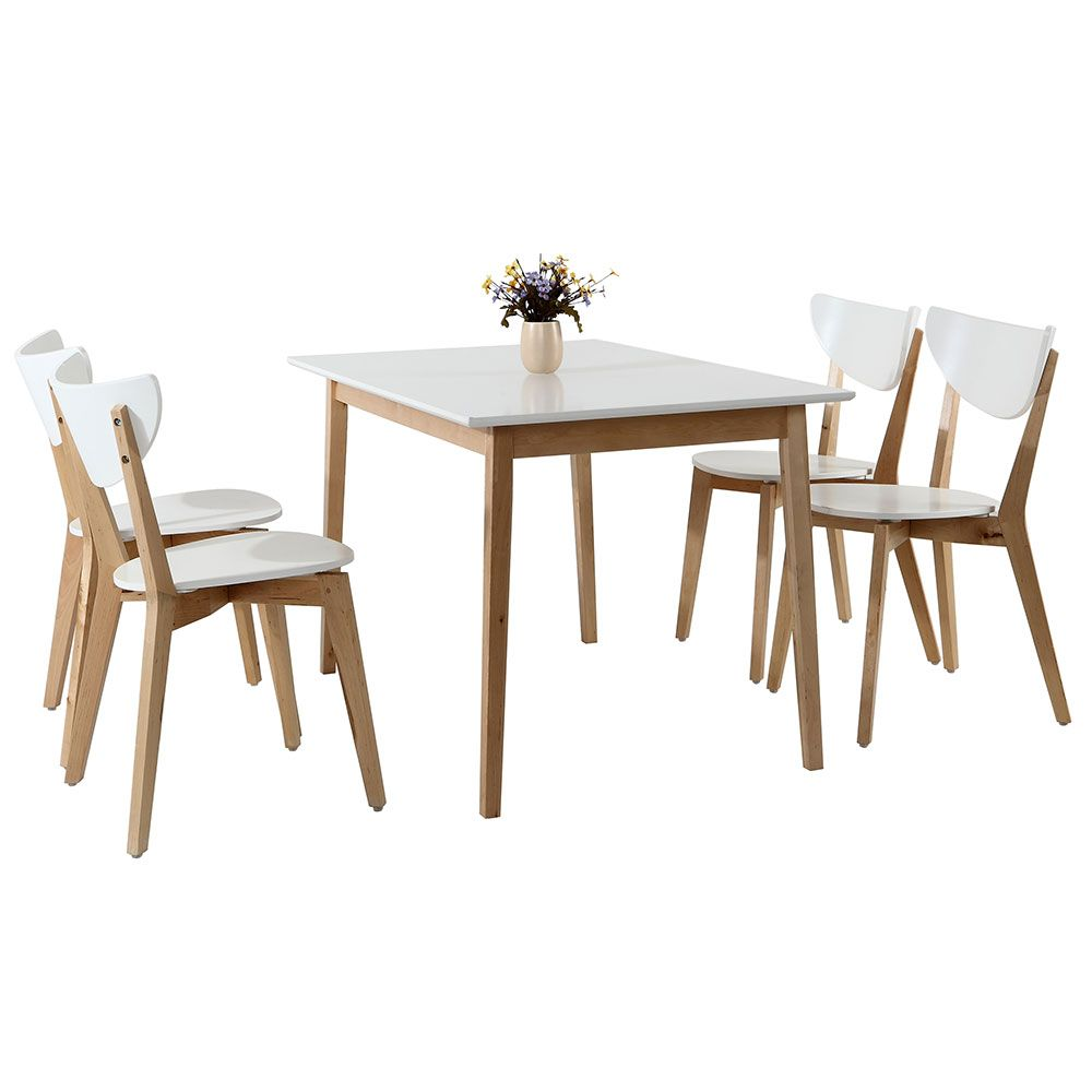 Set de comedor mainstays mesa y 4 sillas walmart for Set sillas comedor