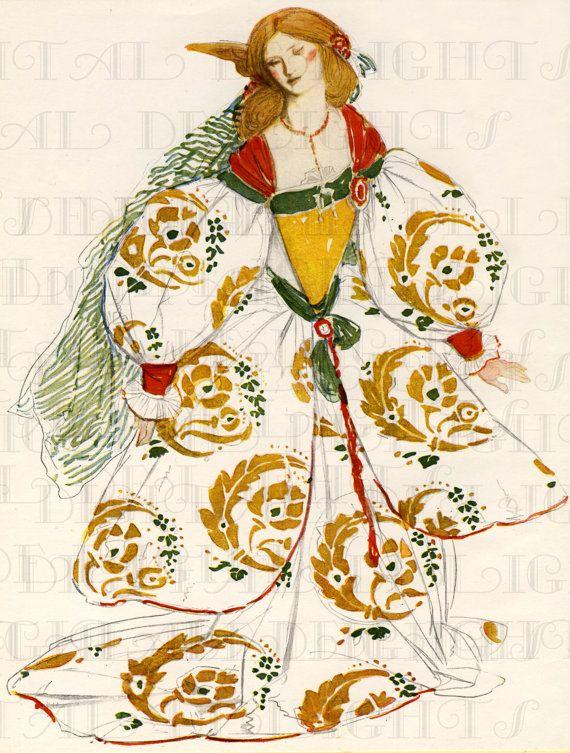 RARE. Unusual Elizabethan Costume Design. by DandDDigitalDelights