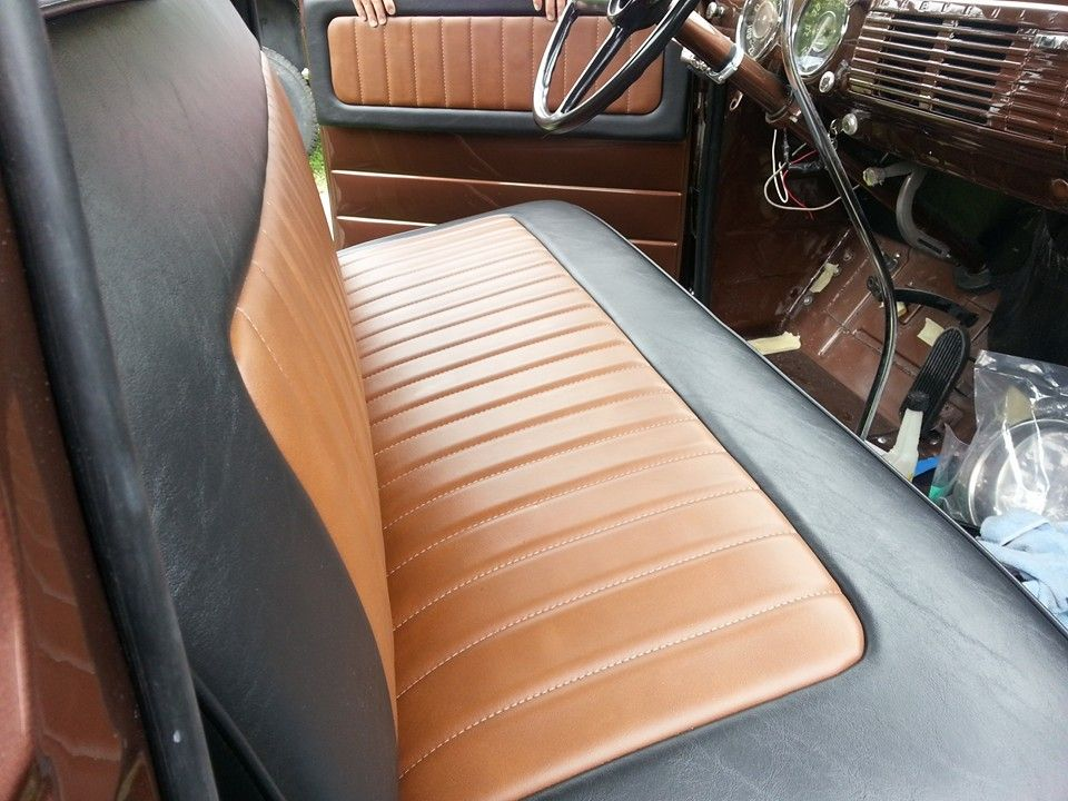 Simple Two Tone Bench Seat Vehicles Interior Ideas