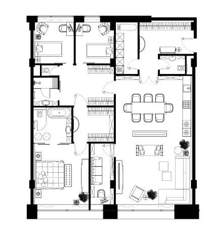 3 ккв 159,3 кв.м_TriBeCa Apartments