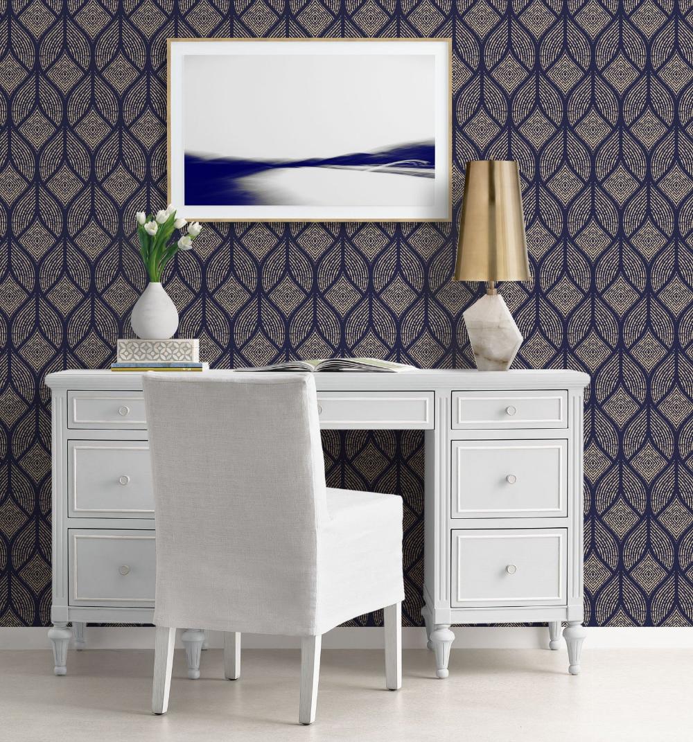 Art Deco Repositionable Wallpaper, Peel & Stick Wallpaper