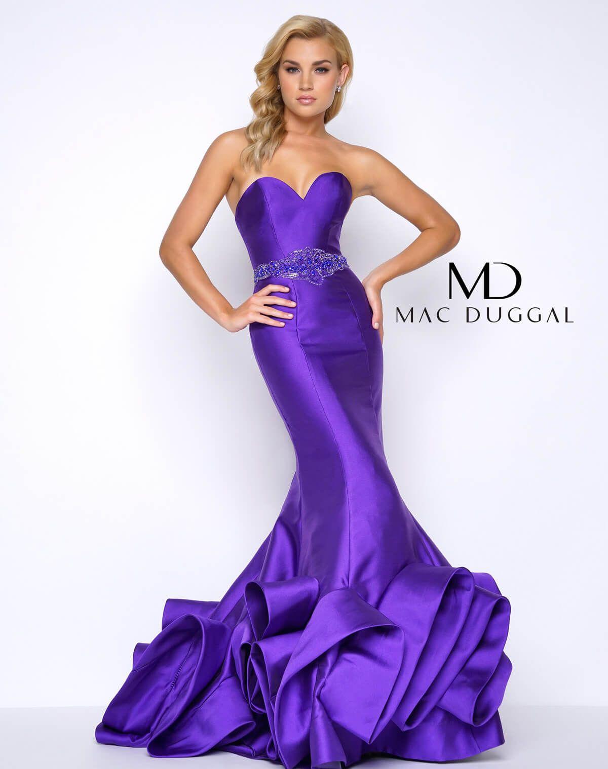 62711m Mac Duggal Strapless Dress Formal Gowns Dresses Dresses [ 1519 x 1200 Pixel ]