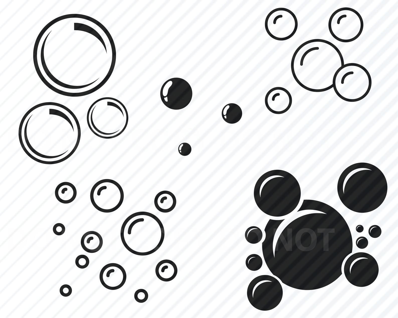 Bubbles Svg Bundle Bubble Vector Images Silhouette Clip Art Blowing Bubbles Svg Files For Cricut Eps Png Dxf Clipart Soap Bubble Svg Silhouette Clip Art Svg Digital Clip Art