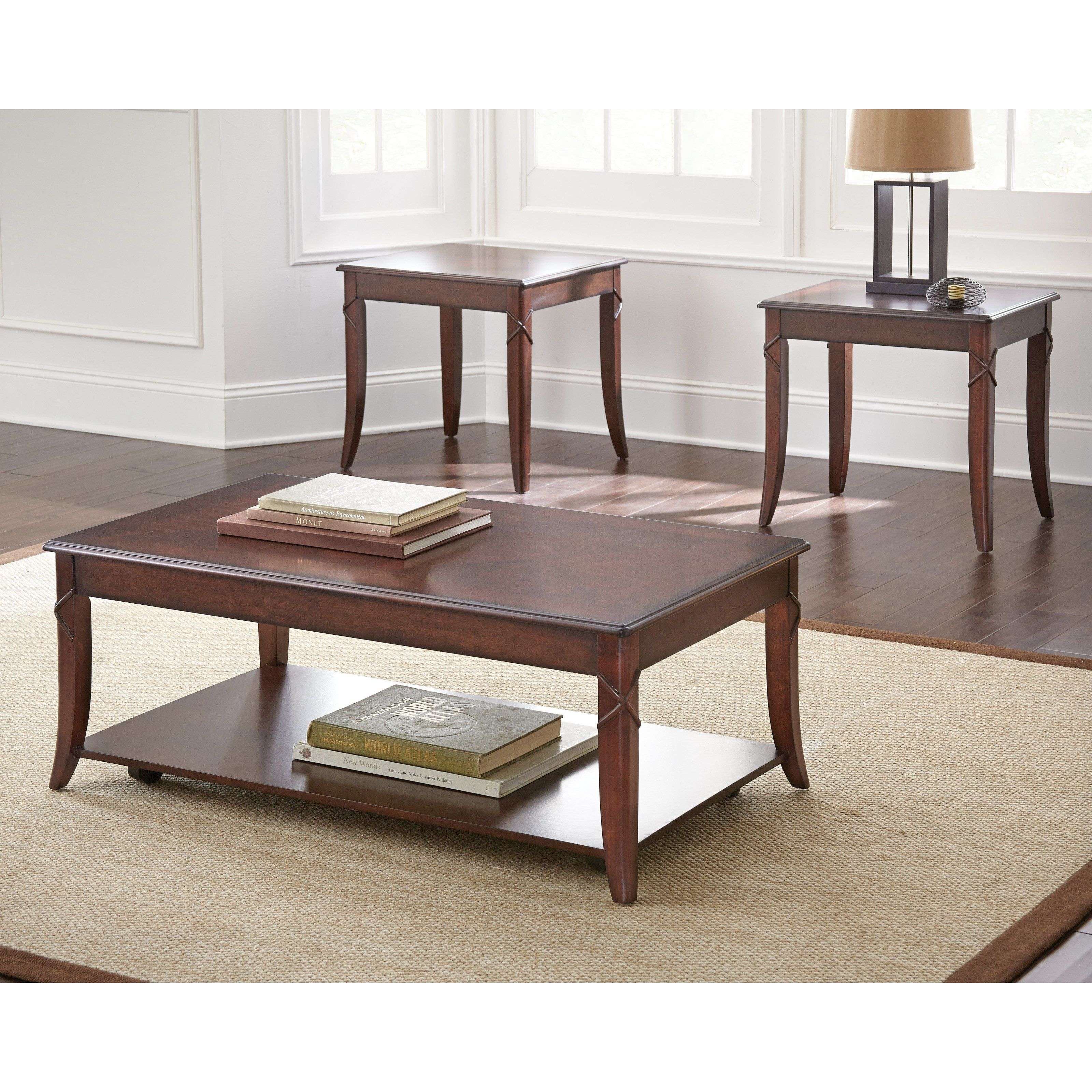 Best Steve Silver Draco 3 Piece Occasional Table Set Dr3000 400 x 300