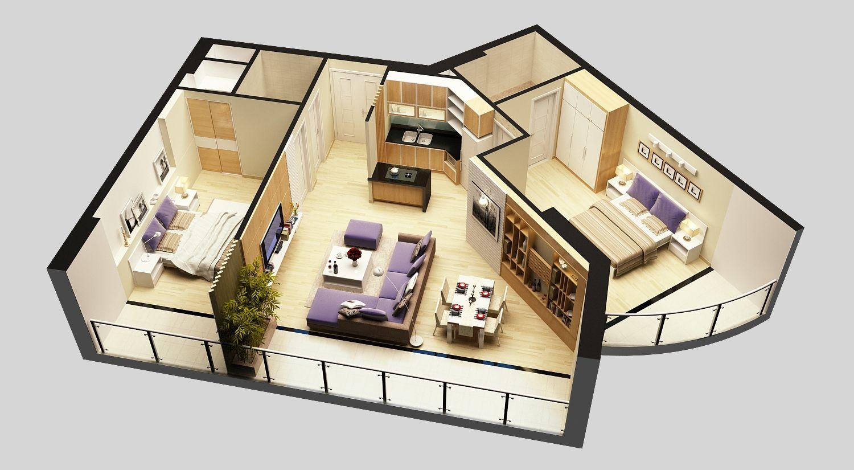 3d Model Detailed House Cutaway View 6 3d Model Model Train Display House Flooring Model Trains