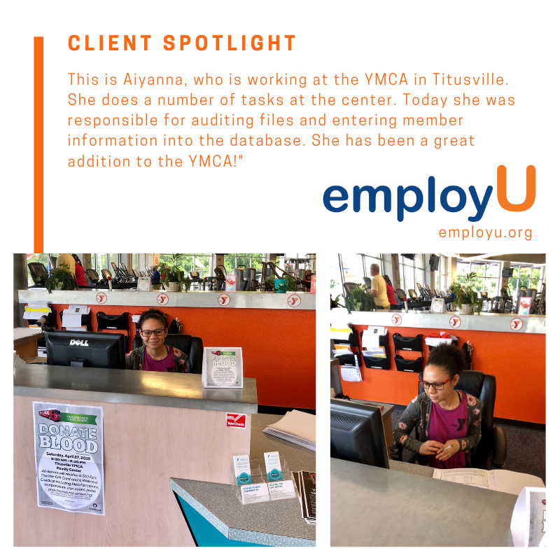 Clientspotlight This Is Aiyanna Who Is Working At The Ymca In