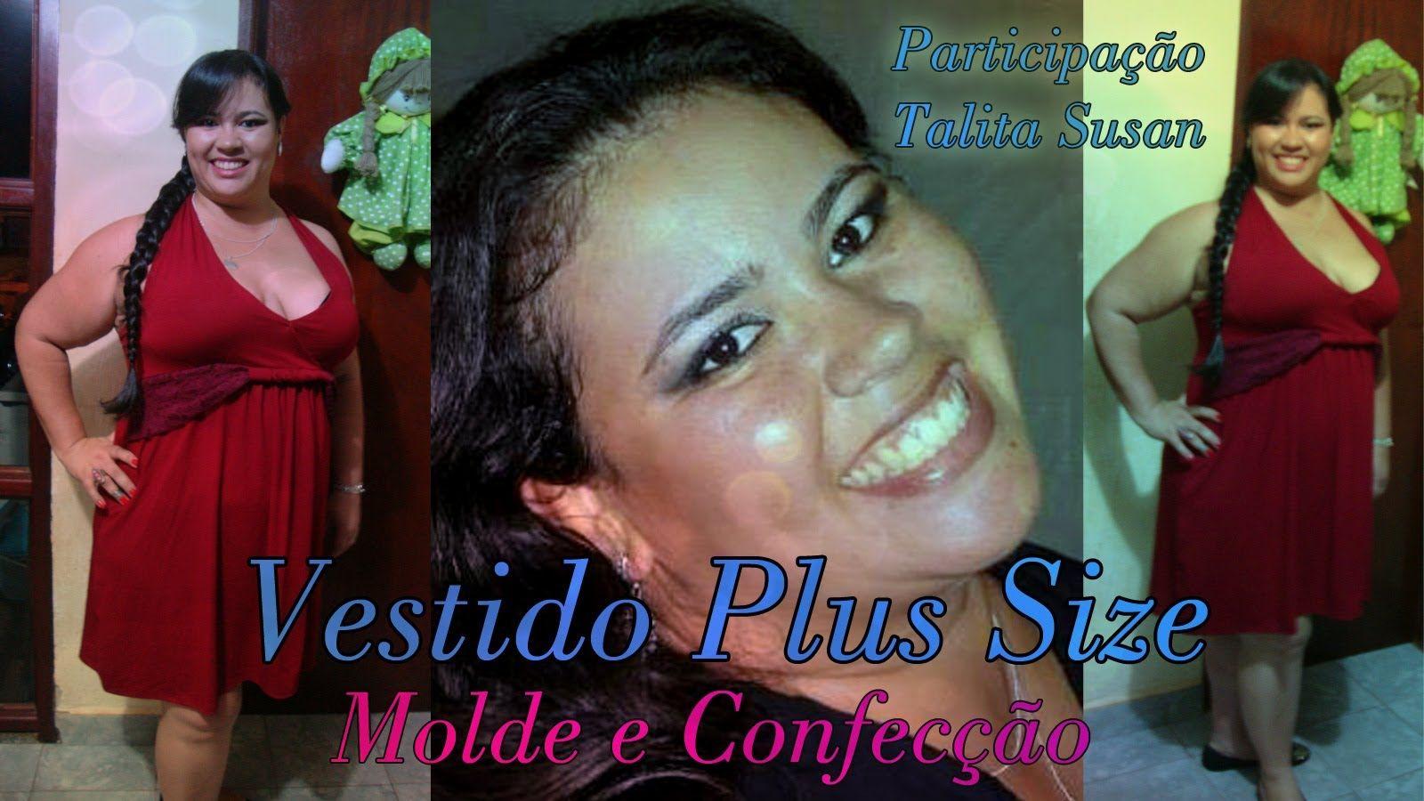 Vestido Plus size molde e confecção por Alana Santos Blogger