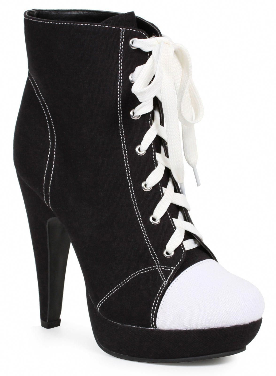 05759a574ac Women s Black Athletic Ankle Boots  Promshoes