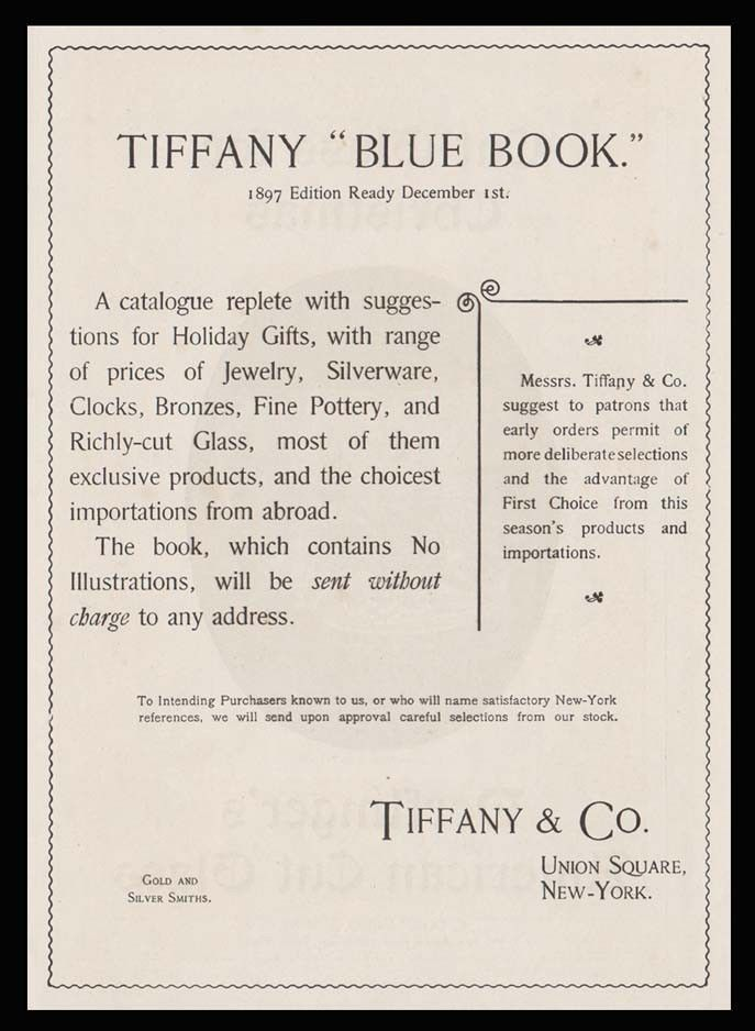 1896 TIFFANY & CO. \