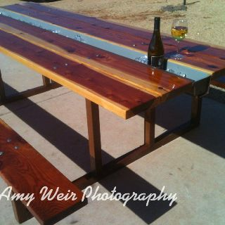 Picnic table with center cooler i made pinterest Picnic table with cooler plans