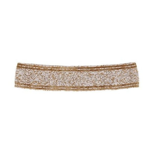 Cocobelle Elastic Belt with Piping ($36) ❤ liked on Polyvore featuring accessories, belts, gold summer mix, stretchy belts, stretch belt, metallic stretch belt, gold belt and metallic belt