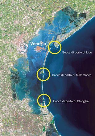 The Three Entrances To The Lagoon Of Venice Bocca Di Lido Bocca