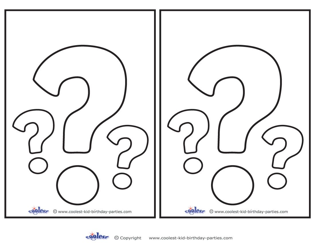 Blank Printable Question Mark Invitations This Or That Questions