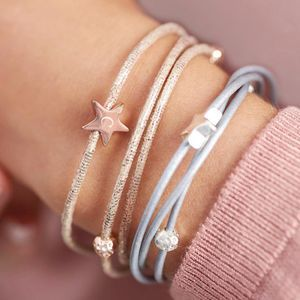 Arlena Multi Wrap Leather Star Bracelet - for friends