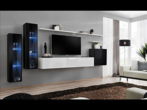 living room furniture black gloss wooden floor shift xi seattle collection high floating tv cabinet european design wall mounted cabinets with led lighting white