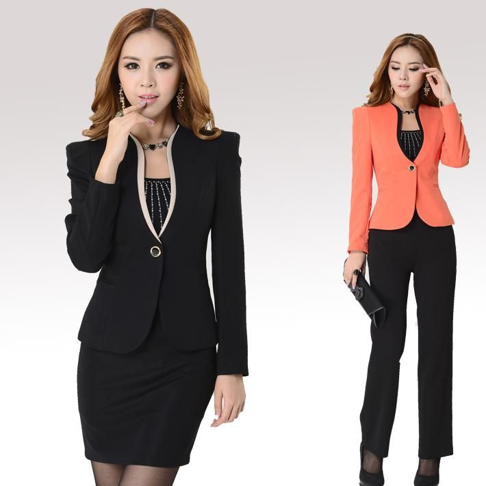 2015 New Female Business Suits Sets For Women Workwear Autumn Coat ...