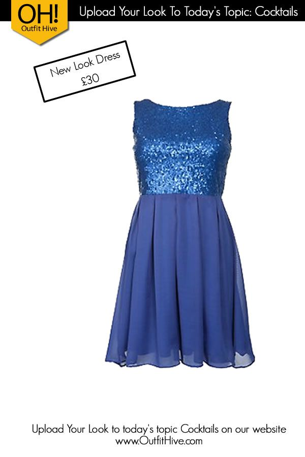Beautiful Blue Sparkle Dress from New Look for a #NightOut with the Ladies.   http://tidd.ly/7b55d050  #Cocktails #LadiesNight #OOTD #NewLook #Dress
