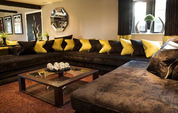 Marvelous Living Room Decorating Ideas Dark Brown Sofa1 Great Pictures