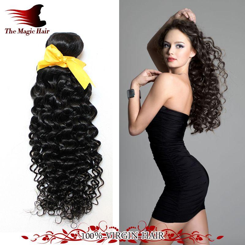 2015 Cheap Malaysian Virgin Hair Deep Curly 3pcslot Magic Hair