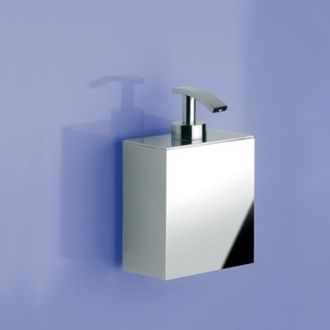 Soap Dispenser Box Shaped Chrome Gold Or Satin Nickel