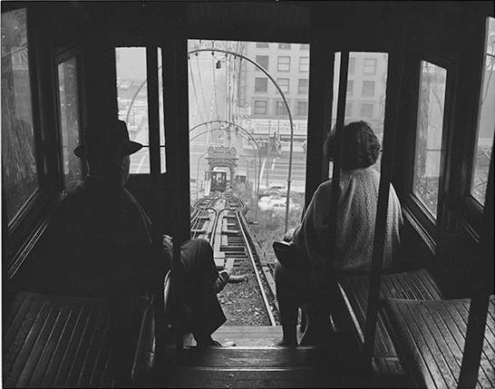 William Reagh Riding Angel S Flight Down Bunker Hill 3rd And Hill Downtown Los Angeles 1963 Los Angeles History Angel Flight California History