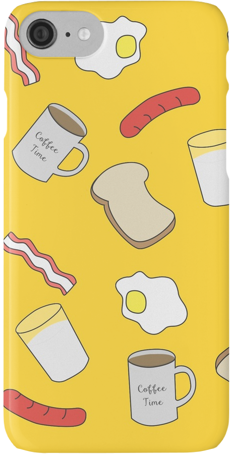 Breakfast Time. #iphone #case #skin #pattern #redbubble #linecircle #linecircleApparel #LinecircleStationary