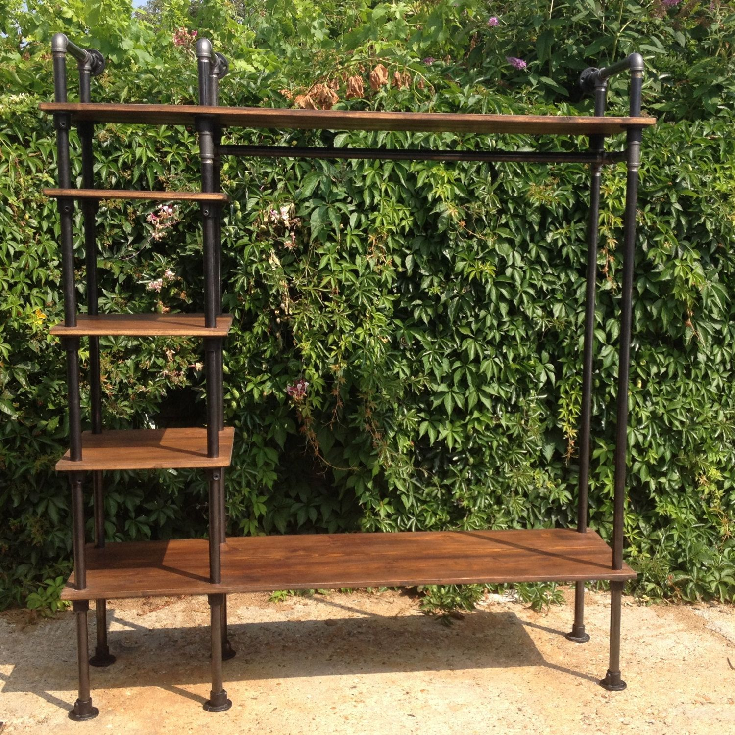 Clothes rail vintage industrial style by breuhaus on etsy