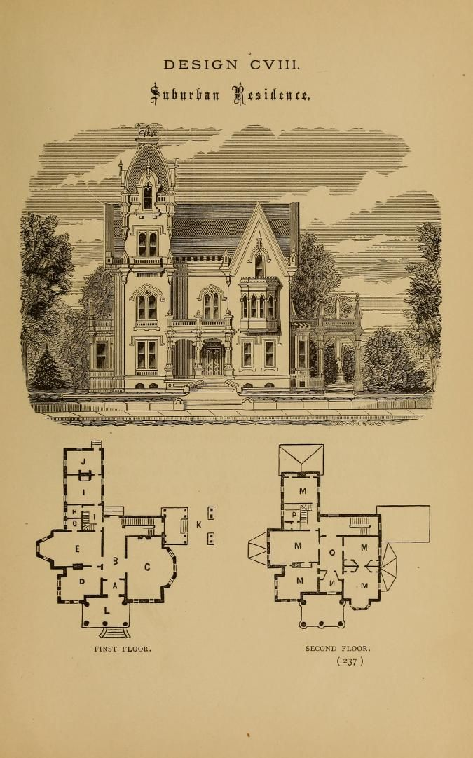More Hobbsian Gothic Victorian House Plans Farmhouse Floor Plans House Floor Plans