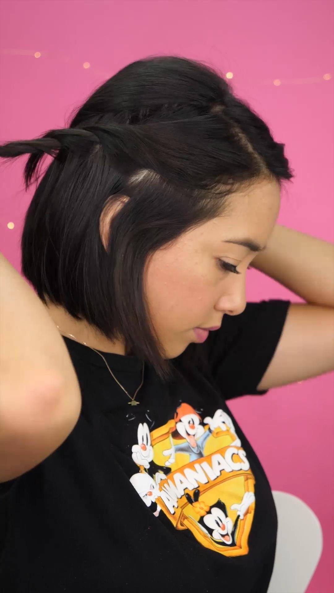Peinados fáciles para cabello corto  – Peinados