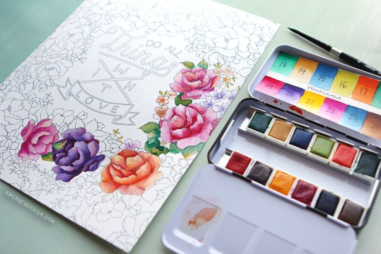 New Watercolor Pan Sets From Prima Coloring Book Review Coloring Books Prima Watercolor Watercolor Books