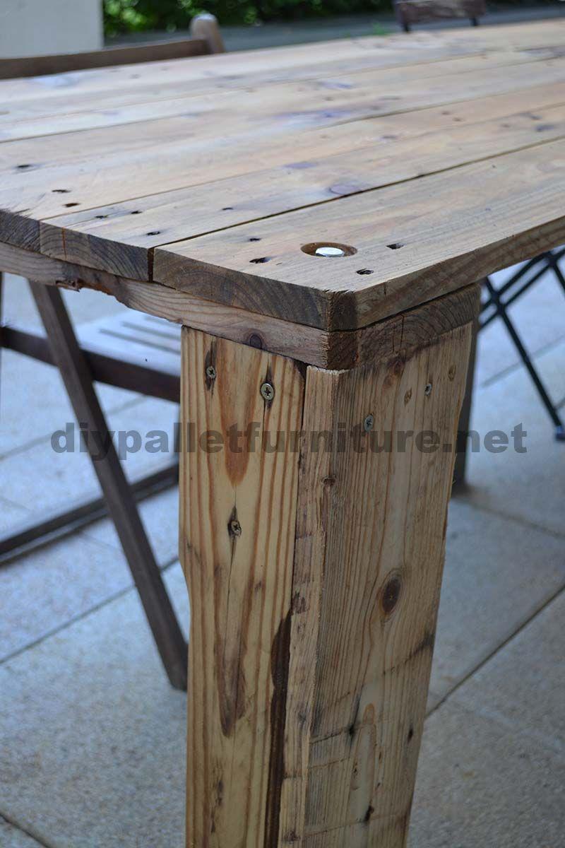 comment faire facilement une table avec un europallet. Black Bedroom Furniture Sets. Home Design Ideas