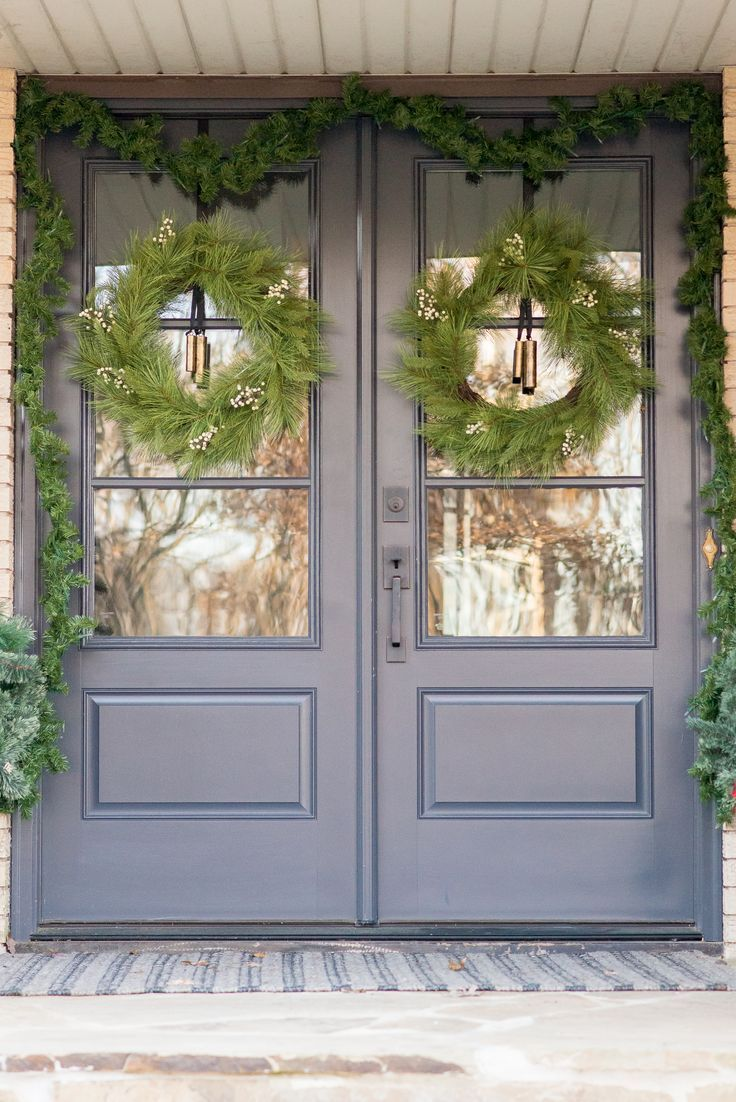 Front Porch Christmas Decorating Ideas Front Door Christmas
