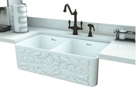 Whitehaus 30 Fireclay Farmhouse Sink Whflgo3018 White Hen Tilly Farmhouse Sinks Fireclay Farmhouse Sink Farmhouse Apron Sink Farmhouse Bathroom Sink
