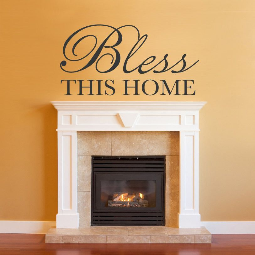 Bless This Home Phrase Wall Decal - Large