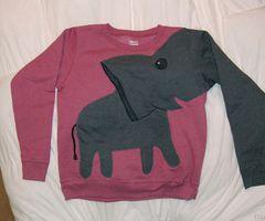 Olifanten trui, wie had dat gedacht.