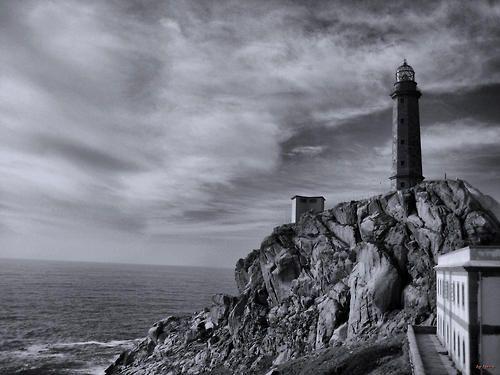 Cabo Vilan. Costa da Morte. Galicia. España  #Lighthouse #Black and White #B&W Photography #lyssyfotos #landscape