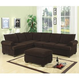 Poundex Casual Chocolate Sectional F7133 With Images Living