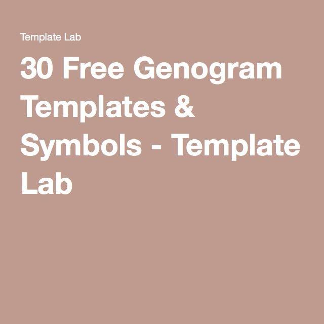 Free Genogram Templates  Symbols  Template Lab  Family