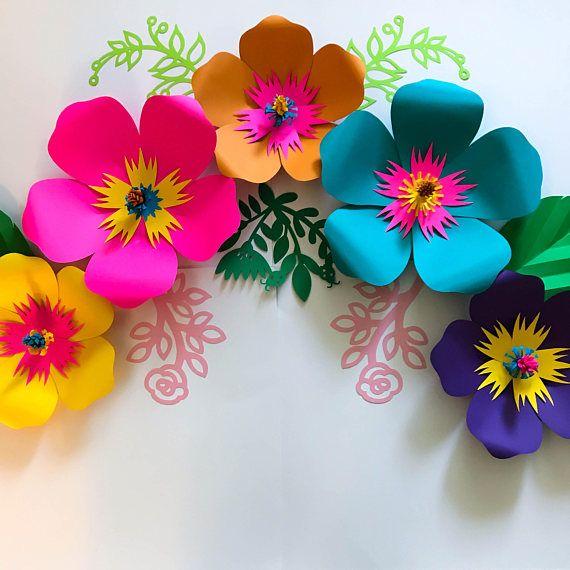 Pdf Paper Flower Template Digital Version Original Design By Paper