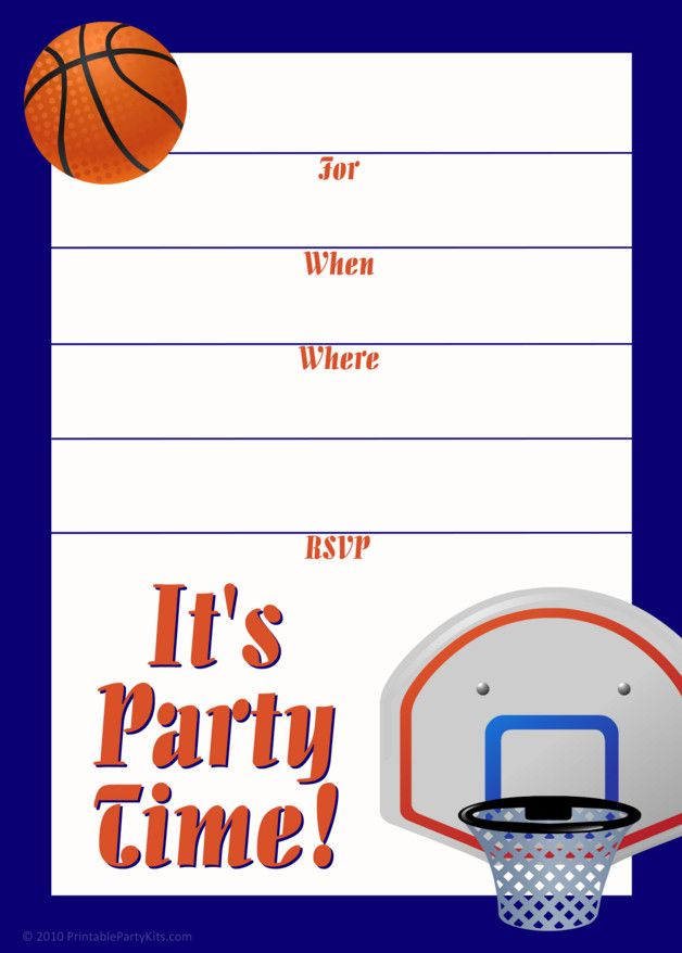 Free Printable Basketball Baby Shower Invitations