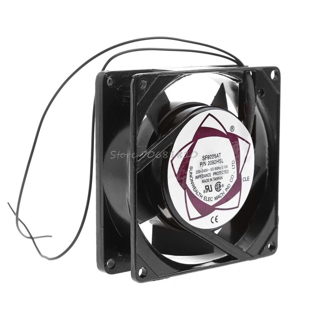SF9225AT 2092HSL 9025 90mm Sleeve Bearing 220-240V AC 2-Wire Case Cooling  Fan