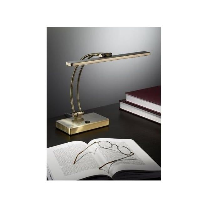 Franklite 2 light led table lamp in bronze finish franklite from castlegate lights uk