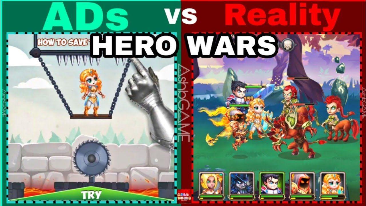 Hero Wars Game Ads VS Reality S1 Ep 4