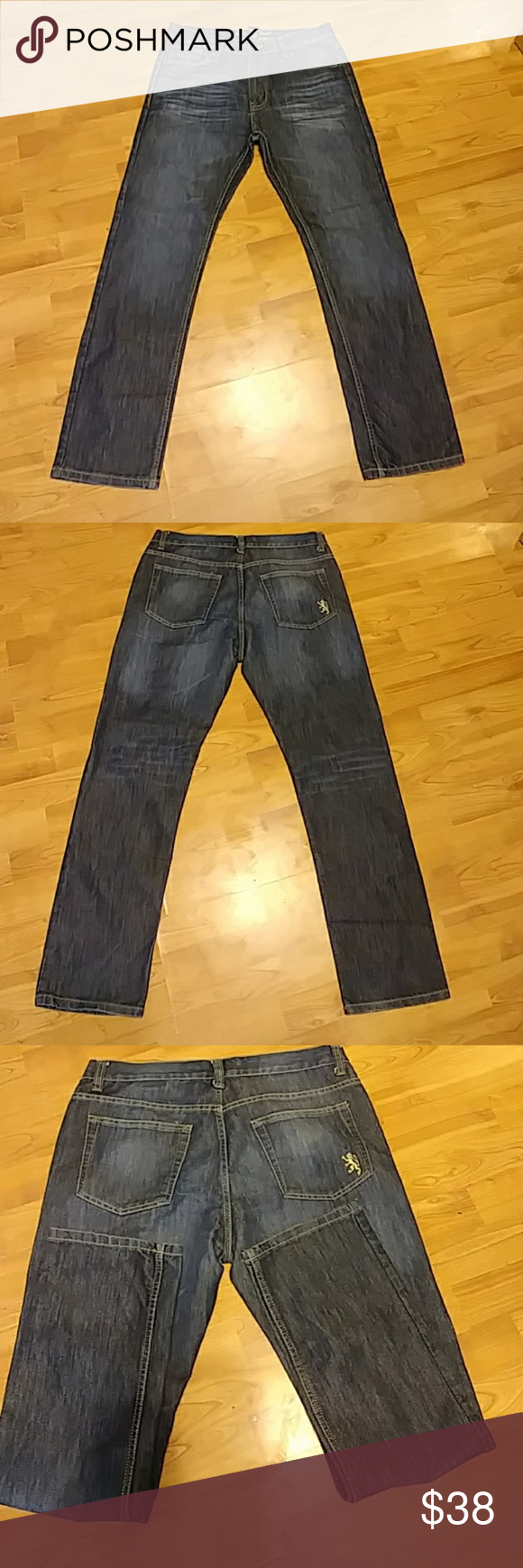 Mens Jeans English Laundry Straight 34x32 Clothes Design Mens