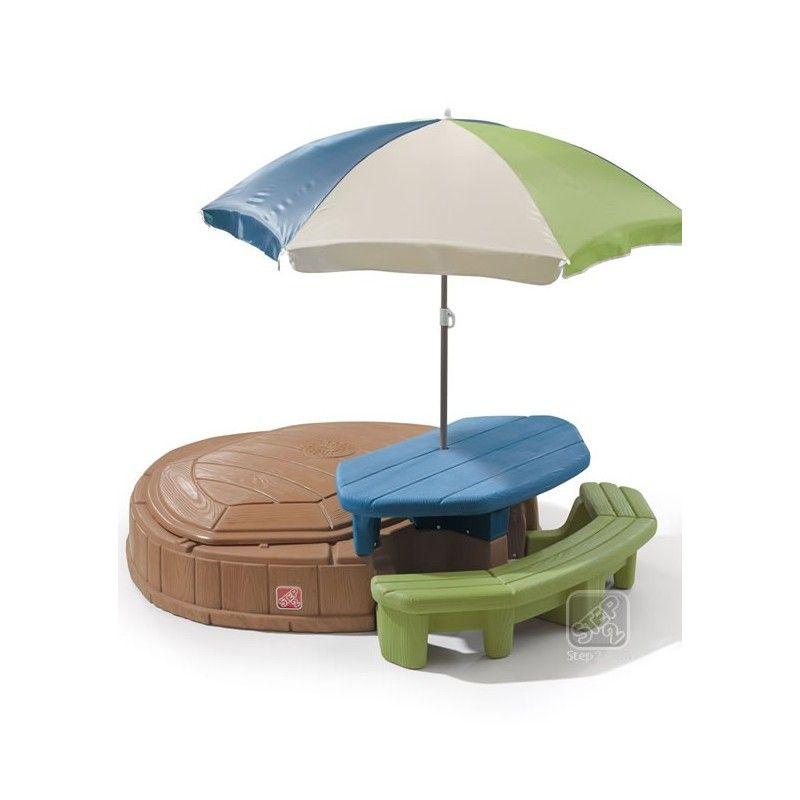Step2 843700 Summertime Sandkasten Und Picknicktisch Sandkasten