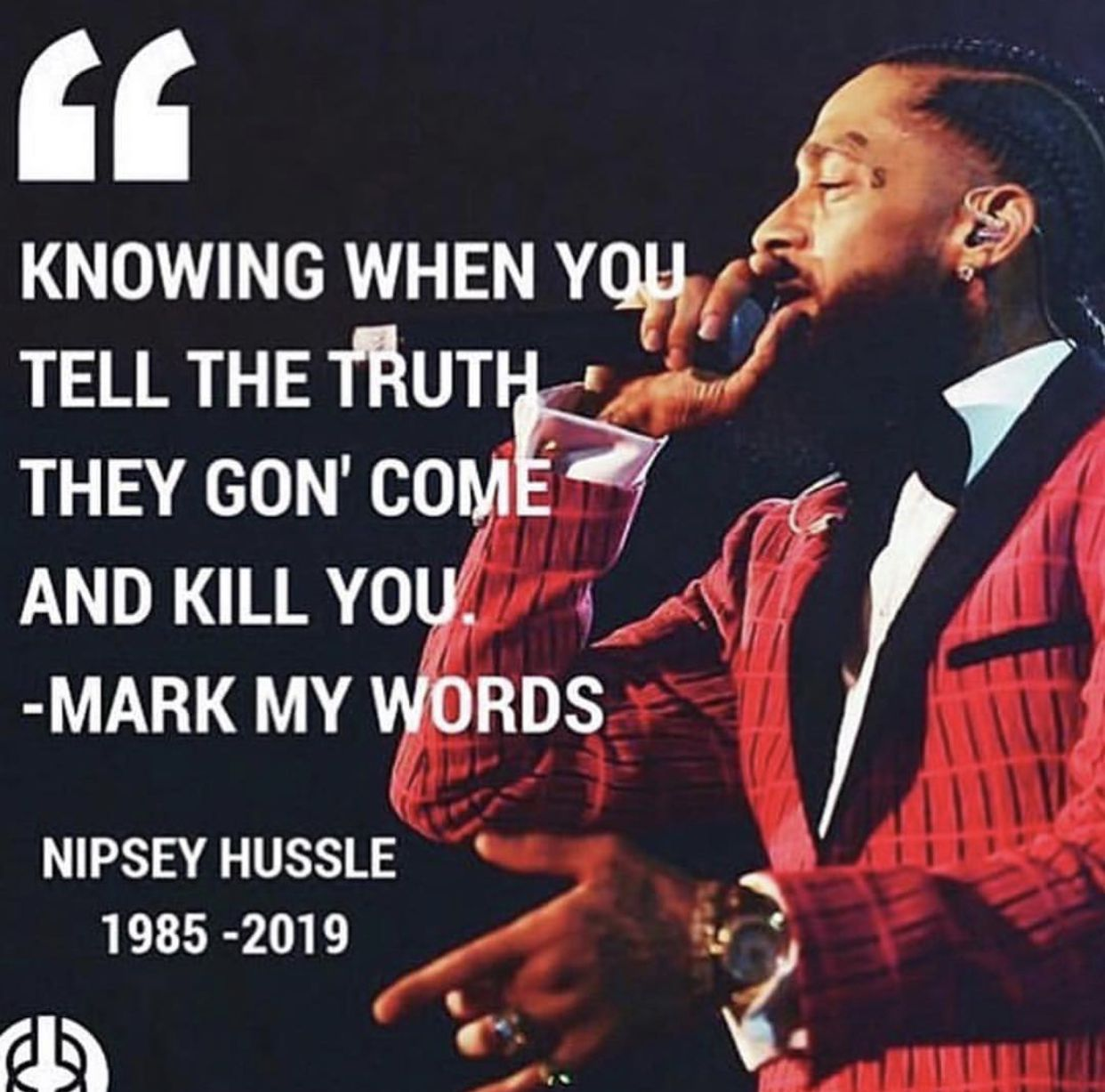Nipsey Hussle  Quotes to live by, Gangsta quotes, Quotes