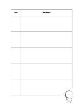 Weekly Bell Ringer Sheet  Free Download Created By Me Have At