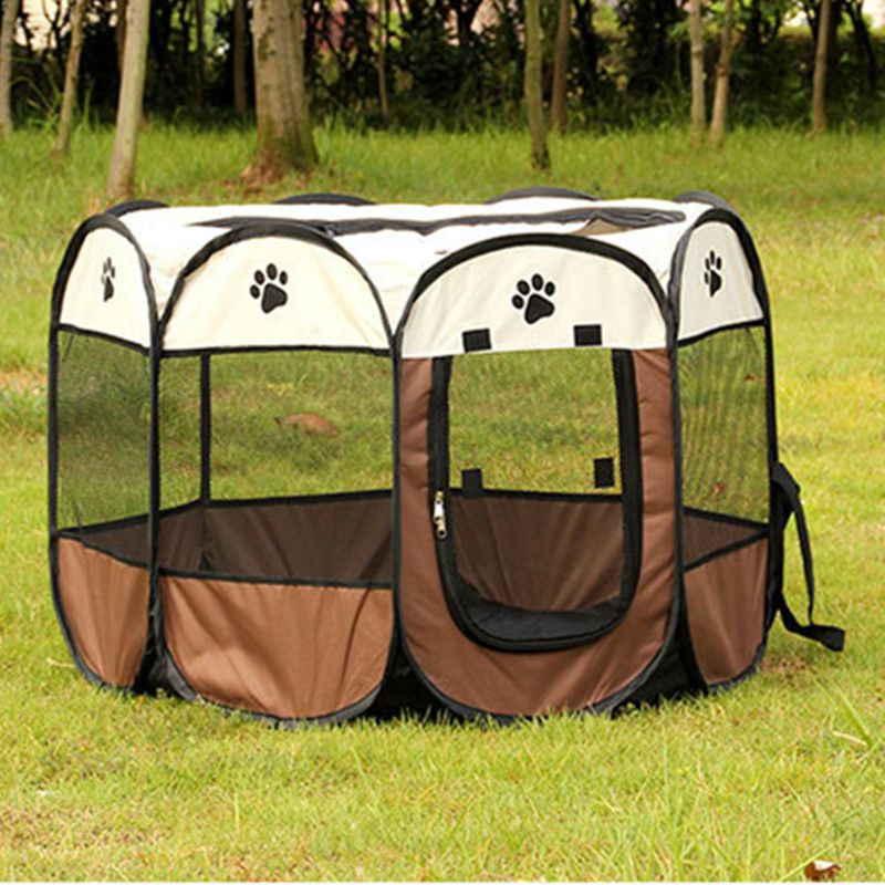 Portable Folding Dog House Pet tent Cage Dog Cat Tent Puppy Kennel Octagonal Fence outdoor Pet & Portable Folding Dog House Pet tent Cage Dog Cat Tent Puppy Kennel ...
