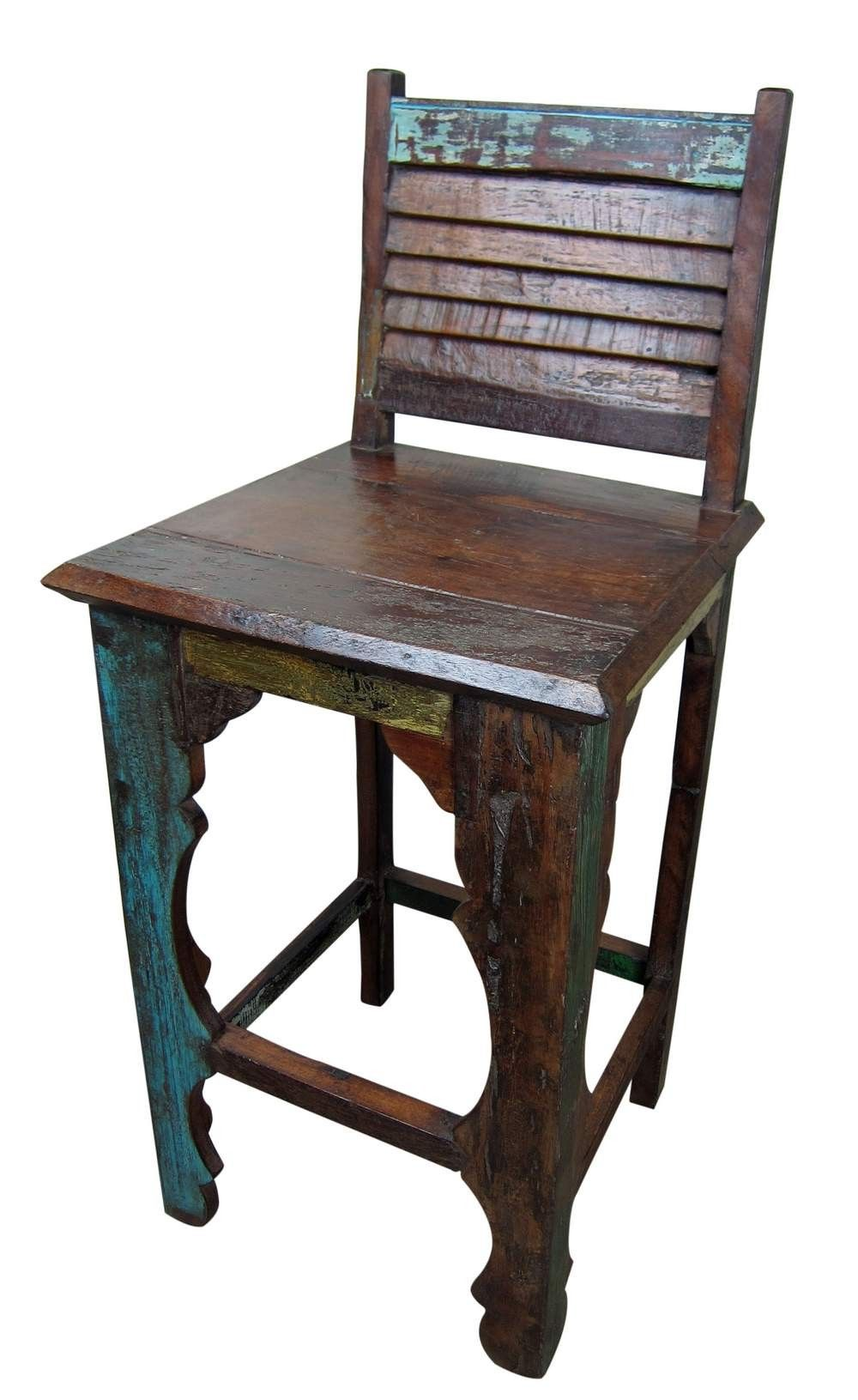 rustic wood bar stools. Mexicali Rustic Wood Bar Stools | Solid Recycled Furniture Online