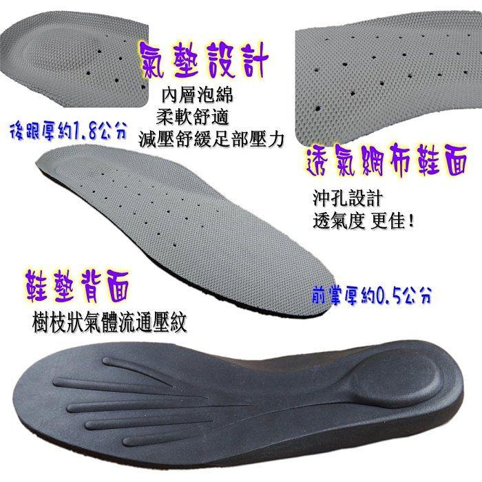 《F.F.SHOP》KTB-0021 透氣網布沖孔氣墊鞋墊 ~買1雙送1雙顆粒按摩鞋墊~ 聽見呼吸的聲音